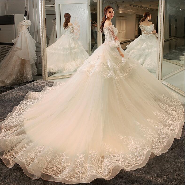 Wedding Gowns Ri: Riricollection: High-quality Wedding Dress White Long