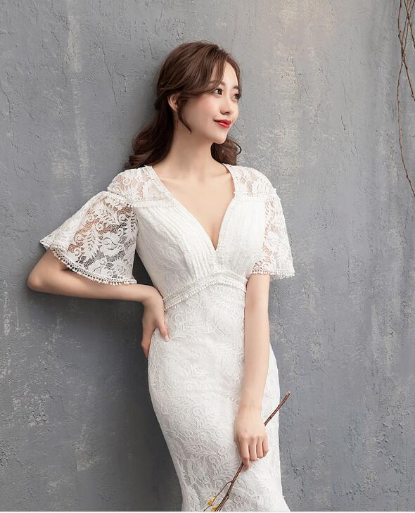 952d6df86d3 ... Party dress fastener race go Japanese Agricultural Standards angel  refined embroidery mermaid floral design dress wedding ...