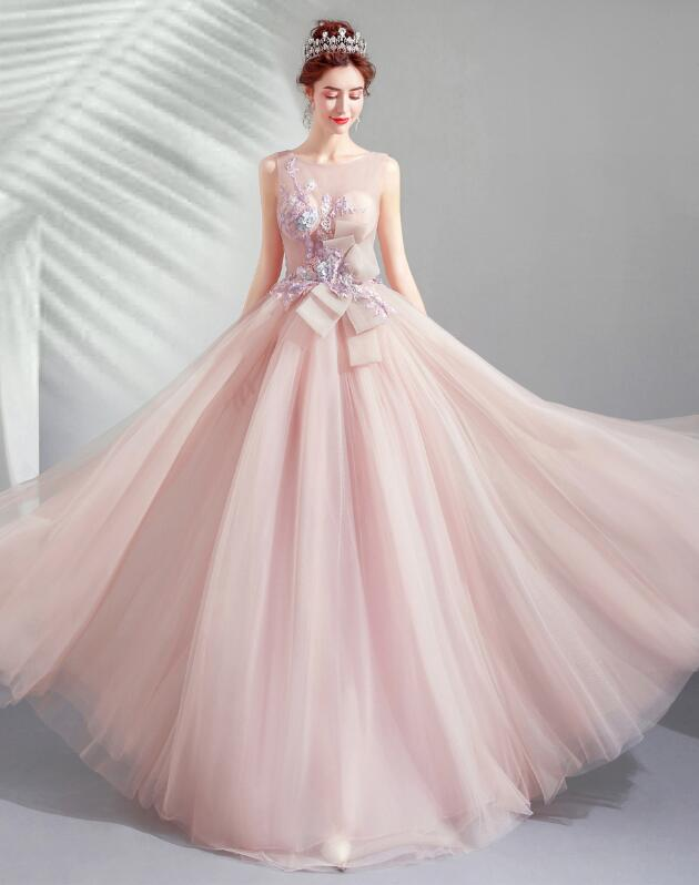 Colored Racesless Refined Pink Dress Fl Design Wedding Ceremony Banquet Ribbon Embroidery Princess Line Minidress Second Party Bustier