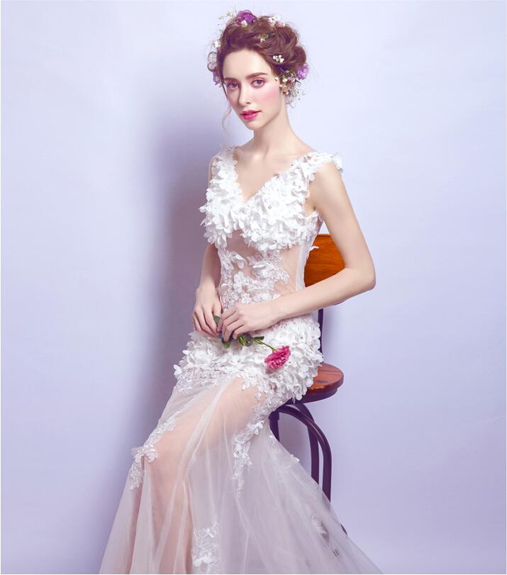 Wedding Gowns Ri: Riricollection: Mermaid Wedding Dress Sexy White A-line