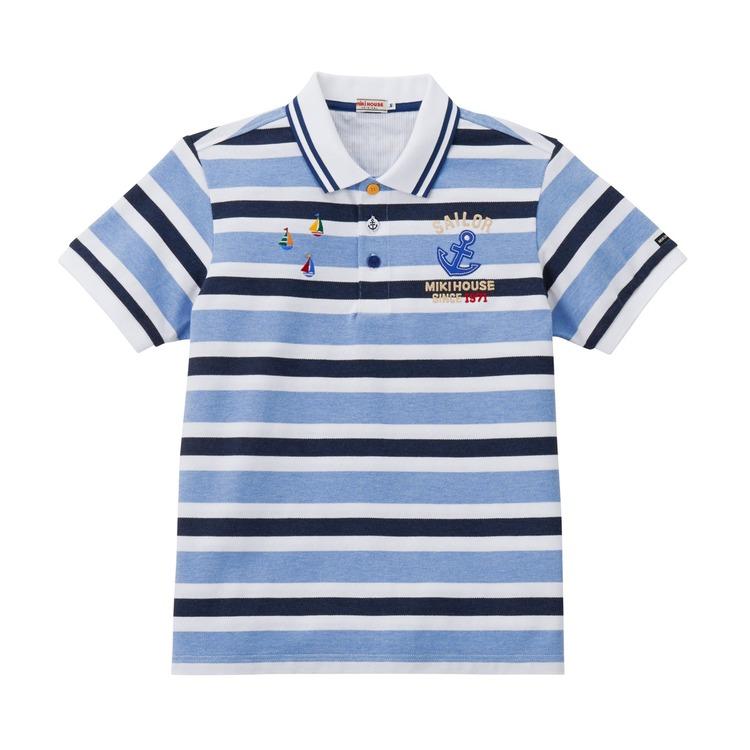 〇【ミキハウス】【7/1~SALE】ポロシャツ(大人用)17000【3,980円以上で送料無料(国内)】