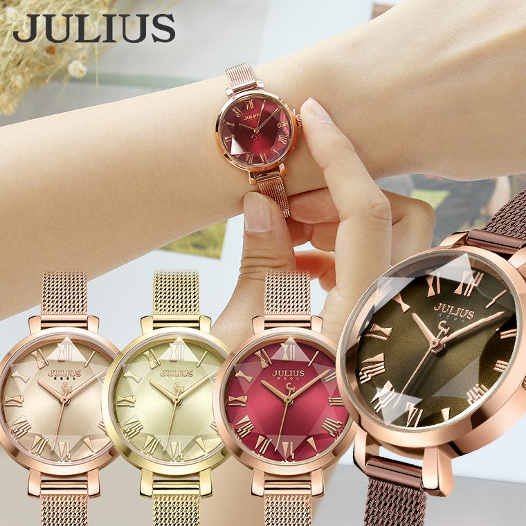腕時計 レディース ブランド 防水 ウォッチ おしゃれ かわいい シンプル 人気 時計 20代 30代 40代 50代 オフィス ゴールド ピンク JULIUS プレゼント