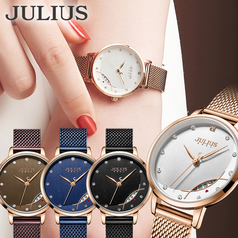 腕時計 レディース ブランド 防水 レディース腕時計 おしゃれ 人気 20代 30代 40代 カレンダー 日付 JULIUS プレゼント ギフト 入学祝い 卒業