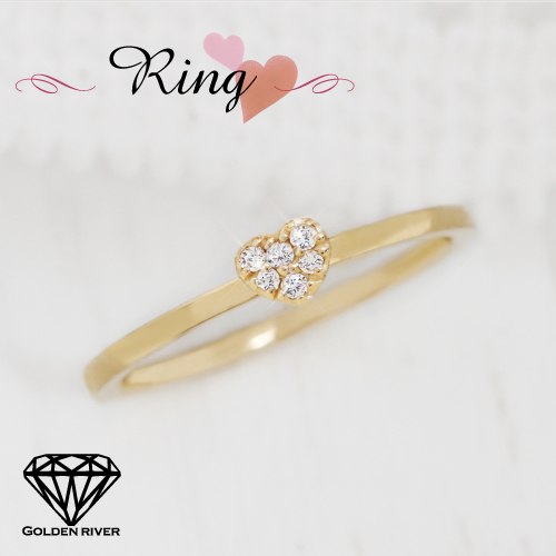 K18 18金 リング ダイヤモンド リング プチ・ハー 指輪 レディス【ラッピングの状態でお届け】