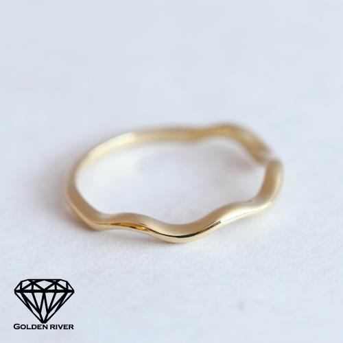 K18 K14 wave Falange ring midring gold ring joint pinky rings 18 k gold 14 k ring