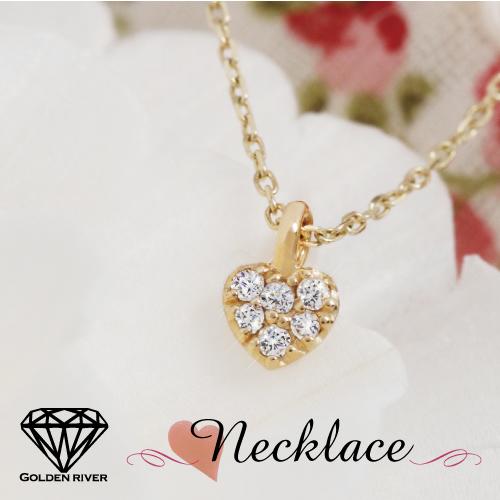 18金 K18 ネックレス ダイヤモンド ネックレス プチ・ハー レディース ゴールド 18k【ラッピングの状態でお届け】