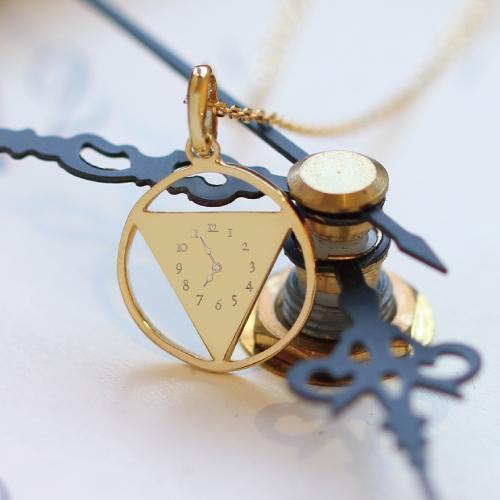 18金 K18 18k メモリアルクロック ネックレス レディス 時計 ネックレス ゴールドネックレス 赤ちゃん誕生の時間 刻印無料 【ラッピングの状態でお届け】