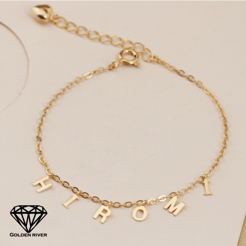 Famous K18 Necklace GOLDENRIVER | Rakuten Global Market: Initial bracelet  DK22