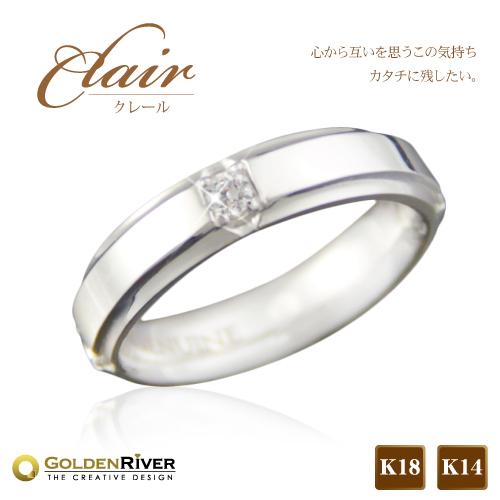 【送料無料】Clair-クレイル- 0.2ctカラット ダイヤモンド ペアリング マリッジリング K18ホワイトゴールド/ピンクゴールド【ペアリング】【ブライダル】【プロポーズ】【ラッピング無料】※代引不可※予約商品※