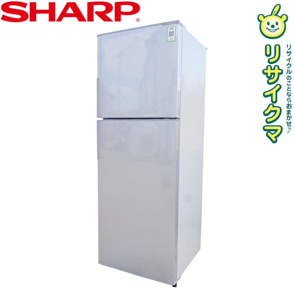 【中古】O▼シャープ 冷蔵庫 225L 2016年 2ドア 大容量 シルバー SJ-23A (17010)