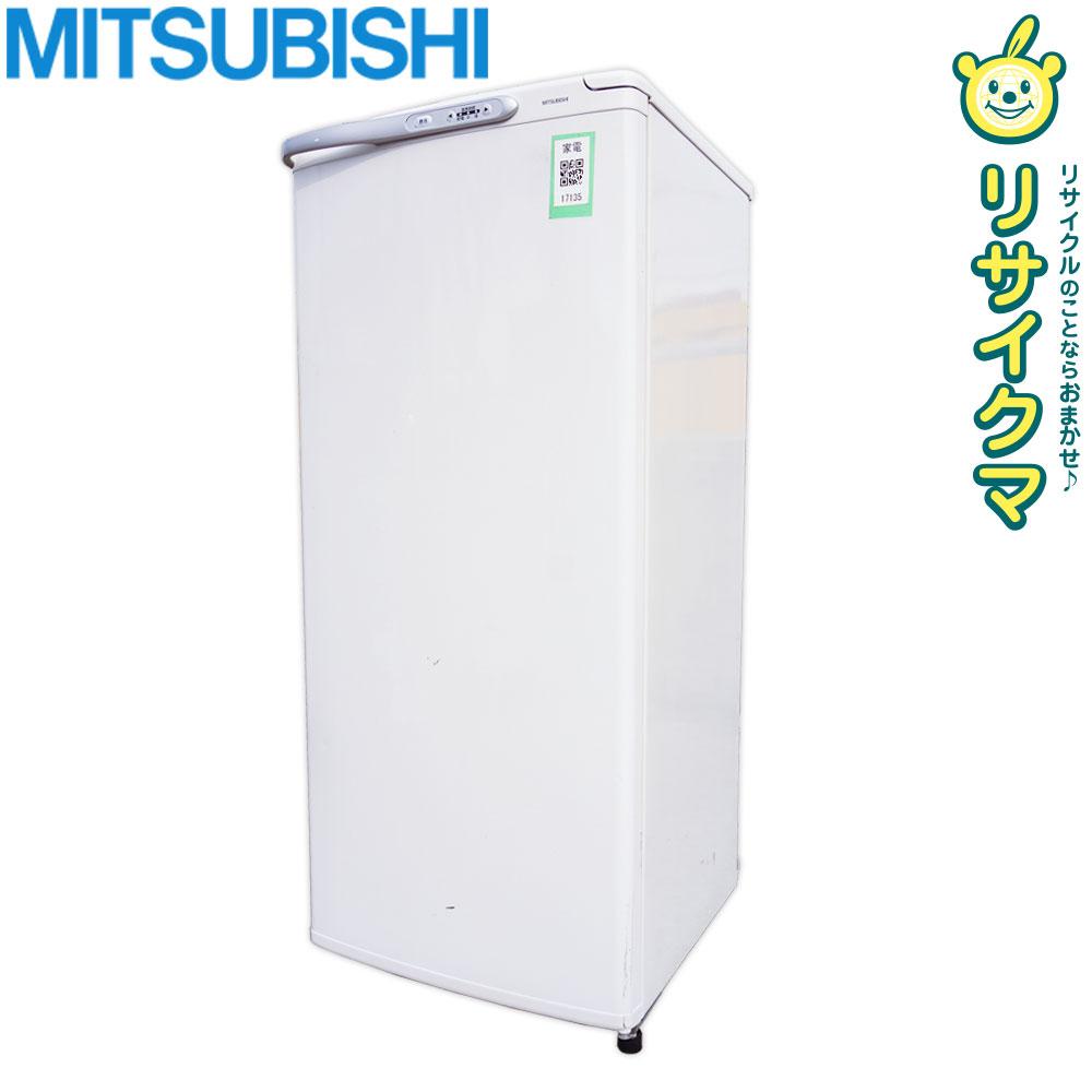 【中古】O▼三菱 冷凍庫 フリーザ 122L 1ドア 急冷 引出タイプ 耐熱性能天板 ホワイト MF-U12J (17135)