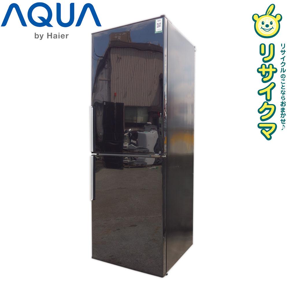 【中古】O▼アクア 冷蔵庫 275L 2016年 2ドア 大容量 人気カラー ブラック 引出フリーザ AQR-SD28E (17175)