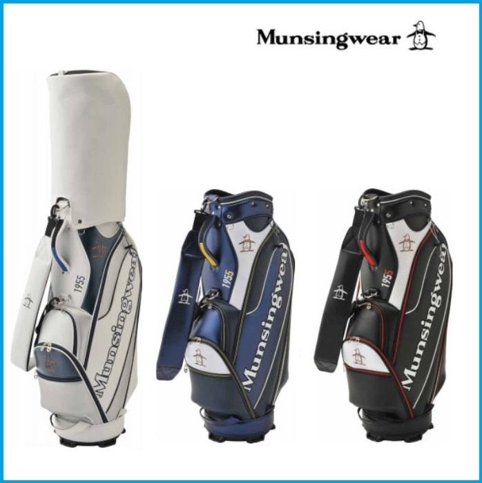 ☆2019年 Munsing wear マンシングウェア MQBNJJ05 キャディーバッグ ブラック/ネイビー/ホワイト