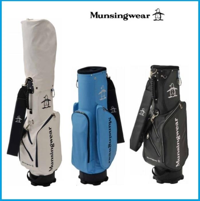 ☆2019年 Munsing wear マンシングウェア MQBNJJ06 キャディーバッグ ブラック/ブルー/ホワイト