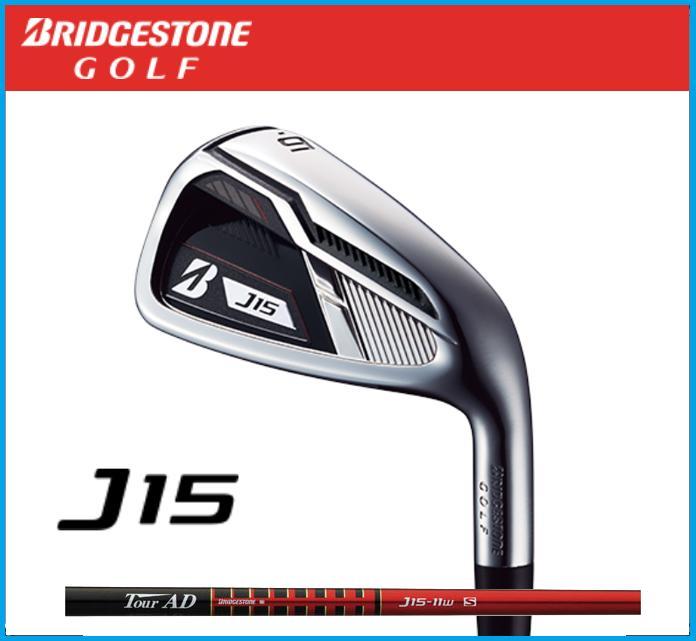 ☆2015年モデル ブリヂストンゴルフ J15 アイアン 6本セット (#5-9,PW) Tour AD J15-11I カーボンシャフト