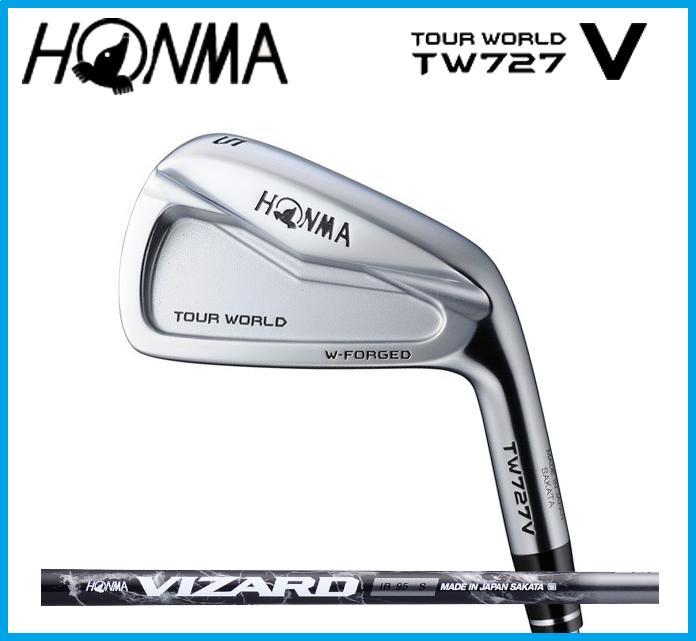 本間ゴルフ HONMA TOUR WORLD ホンマ ツアーワールド TW727V  アイアン6本セット(#5-10) VIZARD カーボンシャフト