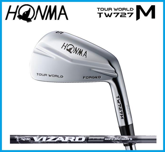 本間ゴルフ HONMA TOUR WORLD ホンマ ツアーワールド TW727M  アイアン6本セット(#5-10) VIZARD カーボンシャフト