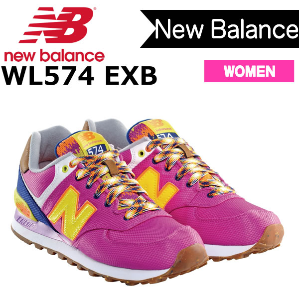 Balance 1eaxqqst Lady's New Shoes Wl574exb Sneakers Yellow 574 axY5q0xHw