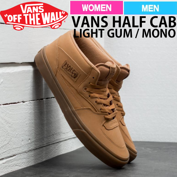 a3106c8790 Vans half cab vans back men gap Dis 2017 FALL latest mid cut casual shoes  tea single color VANSBUCK LIGHT GUM MONO va-59