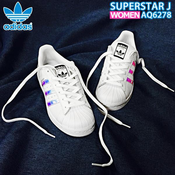 アディダス オリジナルス レディース スニーカー ホワイト adidas originals スーパースター Superstar J AQ6278 ads105