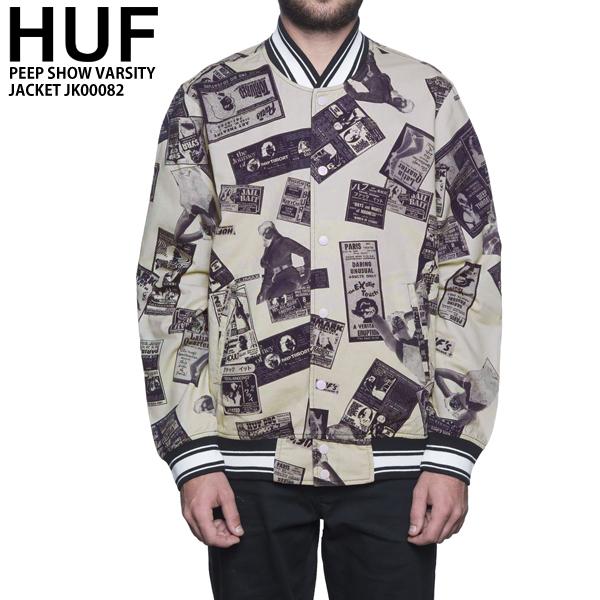 HUF ハフ メンズ アウター リバーシブル バーシティー ジャケット JK00082 PEEP SHOW VARSITY JACKET huf595
