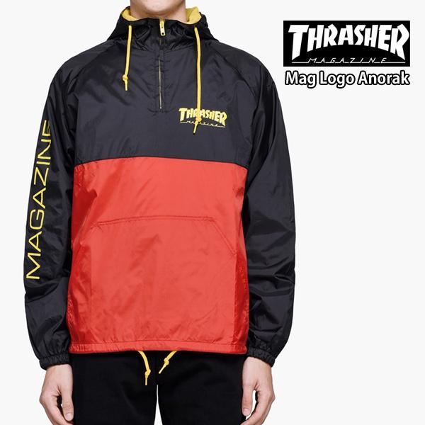 スラッシャー メンズ アウター マウンテンパーカー プルオーバー THRASHER Mag Logo Anorak【USAモデル】thrasher106