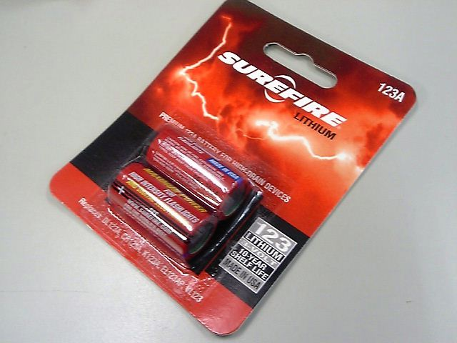 Two SUREFIRE pure lithium battery Brister packs