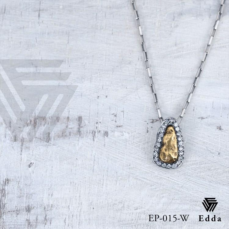 エッダ シルバー&真鍮ネックレス EP-015-W Edda