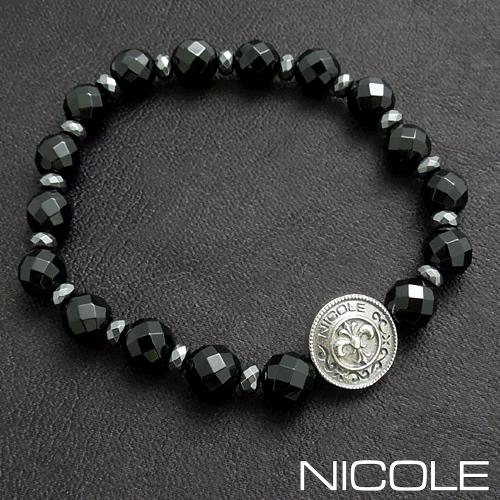 ニコル オニキス ブレスレット リバーシブルコイントップ NC-LE217B NICOLE
