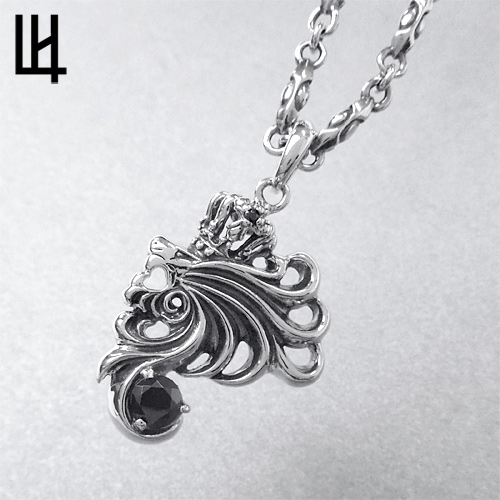 Lionheart Pendant Rismtown rakuten global market lion heart lion heart basis haul lion heart lion heart basis haul lion motif small silver necklace black cubic zirconia 04n073sva14 rism audiocablefo