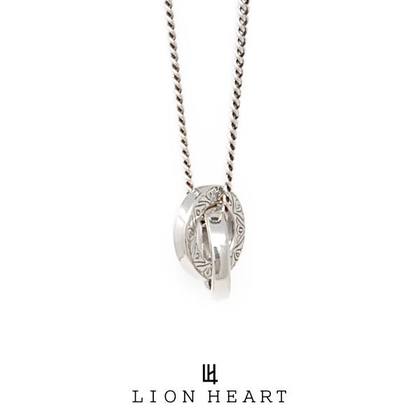 ライオンハート for Gift プレーンカービングダブルリングネックレス 01NE1281SV LION HEART フォーギフト シルバー ネックレス [LH]