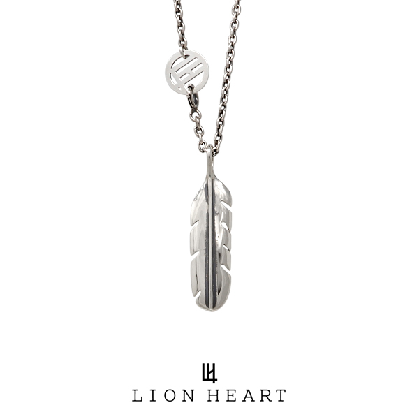 ライオンハート INDIAN STAR フェザーネックレス/M 01NE1451SV LION HEART インディアンスター シルバーネックレス [LH]
