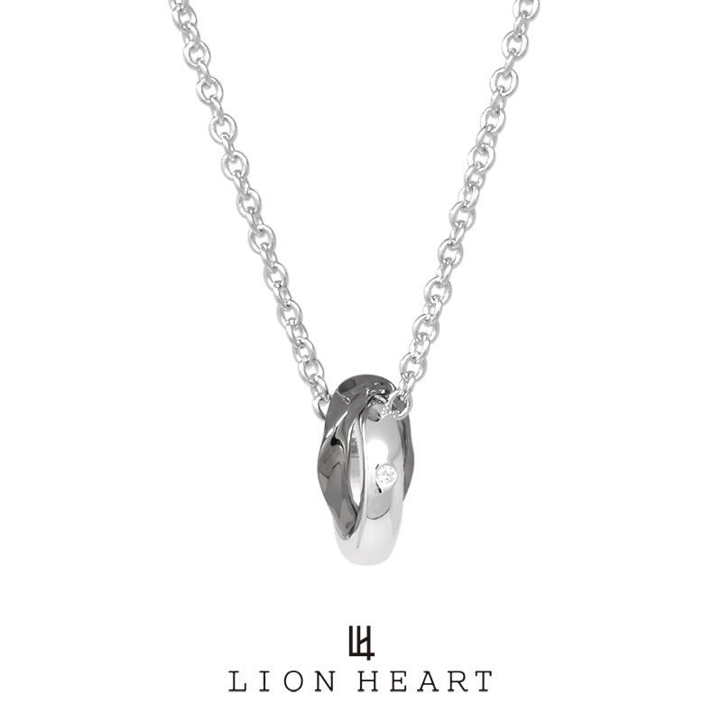 ライオンハート for Gift ウェーブダブルリングネックレス/シルバー925 01NE1831BK LION HEART シルバーネックレス [LH] 誕生日 プレゼント ギフト 送料無料 メンズ ブランド