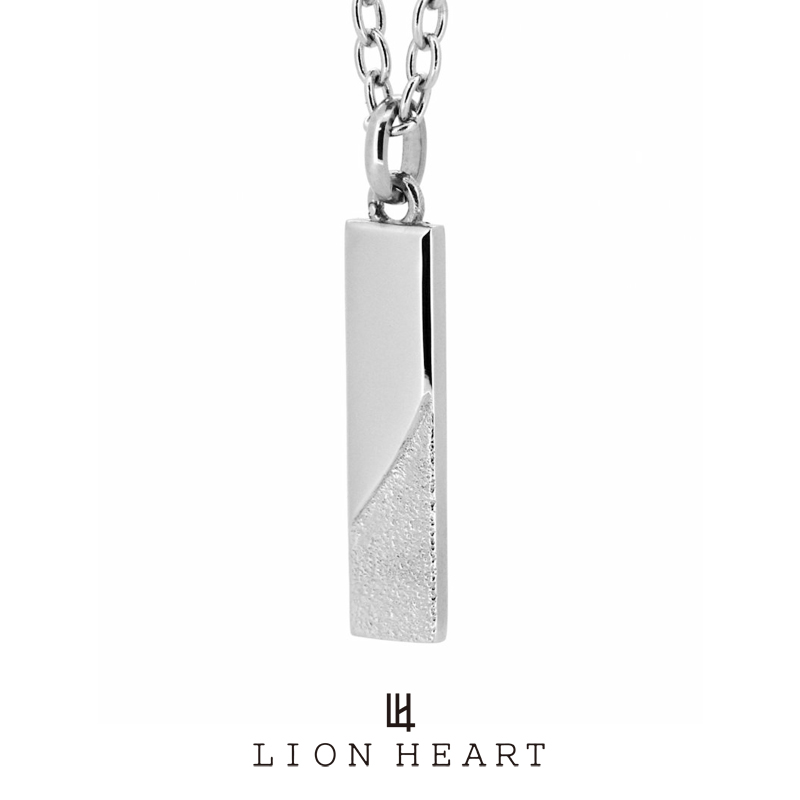 ライオンハート LH-1 トライネックレス/サンドプレート/サージカルステンレス(シルバー) 03NE0195SV LION HEART ステンレスネックレス [LH] 誕生日 プレゼント ギフト 送料無料 メンズ ブランド