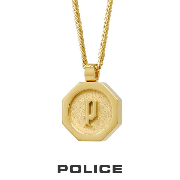 """ポリス """"TOKEN"""" ステンレスネックレス ゴールド 26155PSG POLICE ステンレス 送料無料 ギフト 誕生日 プレゼント ケース付き"""