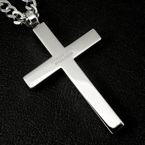 警察警察不锈钢项链罪人银十字架 25504PSS01 [供需] 乐天卡拆分
