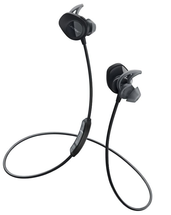 アウトレット品 特価 純正品 Bose ワイヤレススポーツイヤホン SoundSport 防滴仕様/Bluetooth・NFC対応/リモコン・マイク付き/通話可能 ブラック