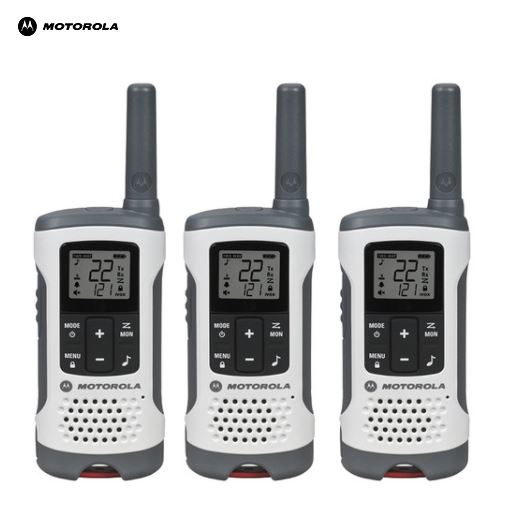 特価!Motorola Talkaboutトランシーバー T260 (40キロ) Range 22-チャンネル トランシーバー 3台セット