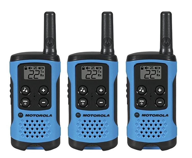 Motorola T100 16-Mile(26キロ) Range 22-チャンネル トランシーバー 3台セット