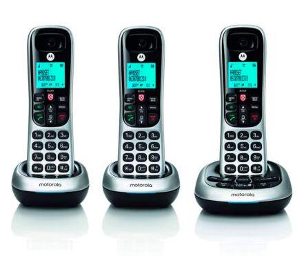 MOTOROLA   Digital cordless phone モトローラ  コードレス 電話機 子機2個
