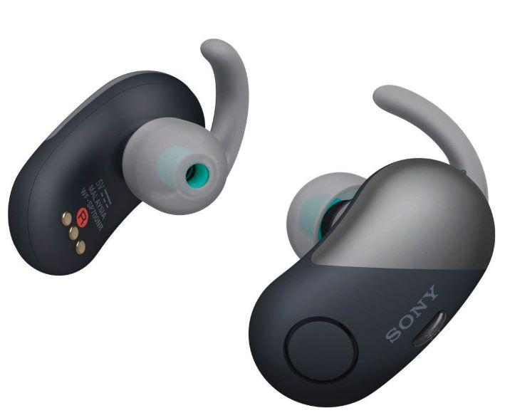 アウトレット特価 ソニー SONY 完全ワイヤレスノイズキャンセリングイヤホン WF-SP700N BM : Bluetooth対応 左右分離型 防滴仕様 ブラック