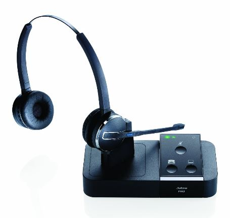 Jabra PRO 9450 Duo Flex ワイヤレスヘッドセット 2.4型タッチパネル搭載モデル