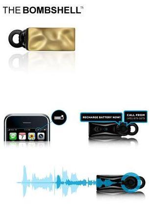デモ機「戦場レベルのヘッドセット」iphone対応JAWBONE ICONノイズキャンセリング Bluetoothヘッドセット 「THE BOMBSHELL」