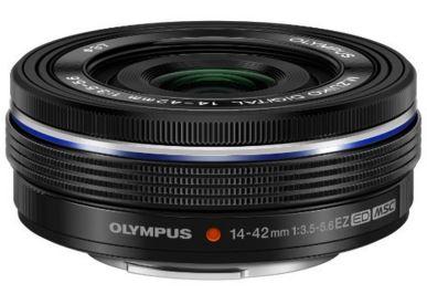 新品 OLYMPUS 電動式パンケーキズームレンズ M.ZUIKO DIGITAL ED 14-42mm F3.5-5.6 EZ SLV ブラック