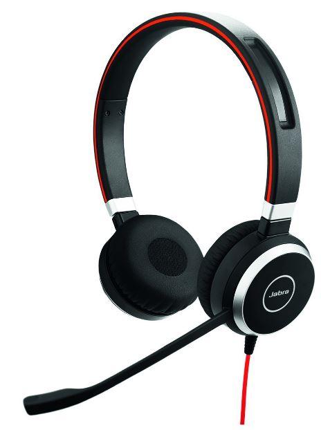 Jabra EVOLVE 40 MS Stereo エンタープライズヘッドホン(ステレオ 業務用) マイクロソフト社認証 【日本正規代理店品】 6399-823-109