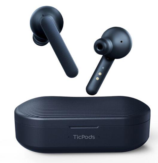 アウトレット特価 未使用品 Mobvoi TicPods Free Lava  完全ワイヤレスイヤホン Bluetooth対応 マイク付き カナル型 タッチパッド搭載 マイク付き IPX5の防水規格 ヘッドセット ブルー