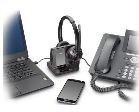 PlantronicsプラントロニクスSavi 8220 Binaural ノイズキャンセリング ワイヤレスヘッドセットシステム+HL10セット