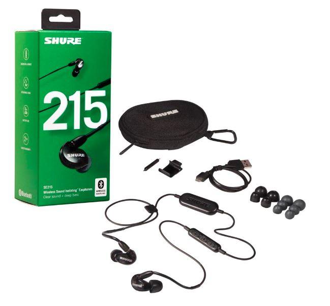 SHURE ワイヤレスイヤホン BT1シリーズ SE215 Bluetooth カナル型 高遮音性 ブラック