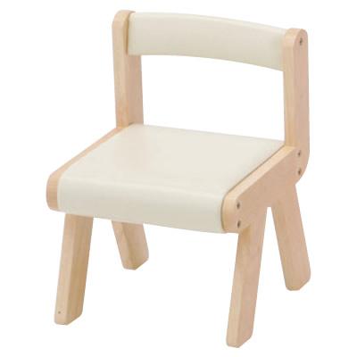 お洒落 キッズチェア 木製 子供 椅子 イス いす 子供用チェアー 低価格 ロー KDC-1906 ノベルティ対象外 キッズチェアー naKIDSキッズPVCチェアー アイボリー