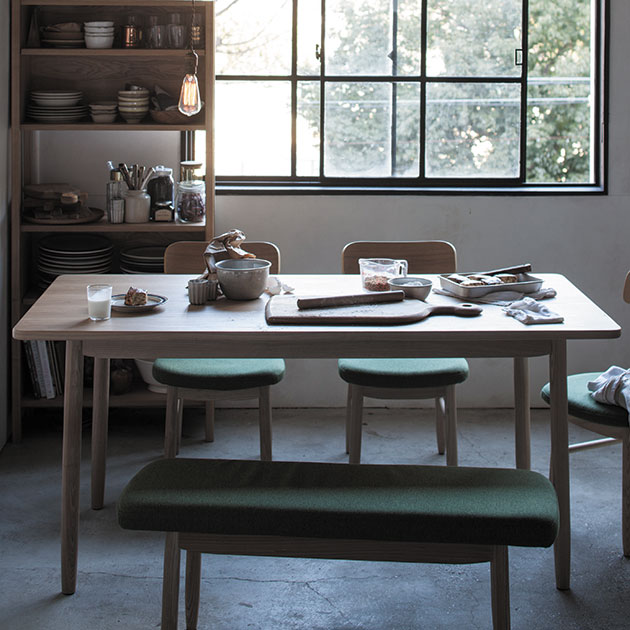SIEVE シーヴ saucer ソーサー ダイニングテーブル L (W160×D80×H72cm) 【ノベルティ対象外】 ダイニングテーブル 木製 無垢 幅160 4人 ダイニング テーブル 食卓 家具 北欧